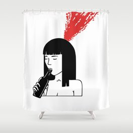 Drinking is bad, feelings are worse Shower Curtain