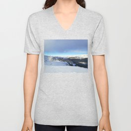 The views behind the blue rope Unisex V-Neck