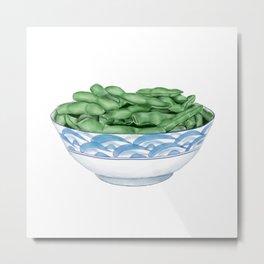 Boiled Green Soybeans | 盐水毛豆 Metal Print