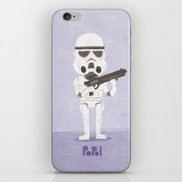 storm trooper iPhone & iPod Skins featuring Storm Trooper by Popol