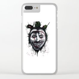 The Horror of Twisty The Clown Clear iPhone Case