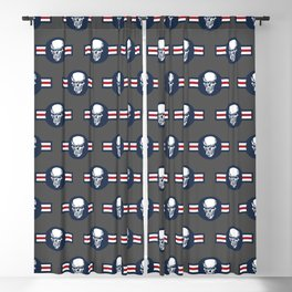 Military aircraft roundel emblem with skull illustration Blackout Curtain