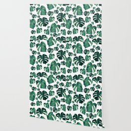 Tropical Monstera Pattern #3 #tropical #decor #art #society6 Wallpaper