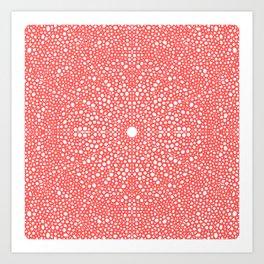 Pink Dot Dot Mandala Art Print