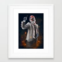 dallas Framed Art Prints featuring DALLAS by Paul Claisse
