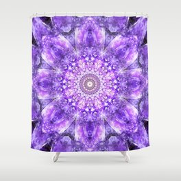 Light of Hope Mandala Shower Curtain