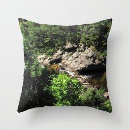 Watercolor Landscape, Cape Breton 10, Nova Scotia, Canada Throw Pillow