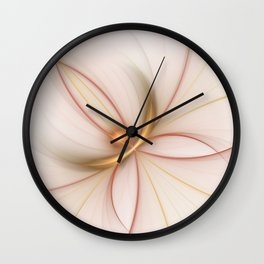 Nobly In Gold And Copper, Fractal Art Wall Clock