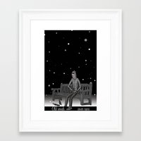 whisky Framed Art Prints featuring snow & whisky by ASIMON
