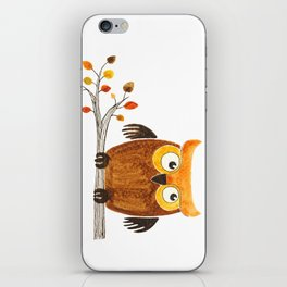 Autumn owl iPhone Skin