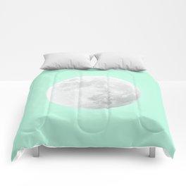 WHITE MOON + TEAL SKY Comforters