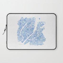 Copenhagen Denmark watercolor city map Laptop Sleeve