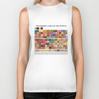 periodic table Biker Tanks featuring The Periodic Table of the Muppets by Mike Boon