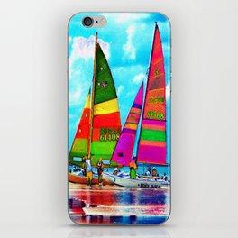Neon Sailboats -Daytona Beach iPhone Skin