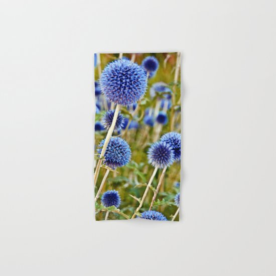 BLUE WILD THISTLE Hand & Bath Towel
