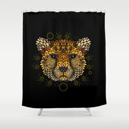 Cheetah Face Shower Curtain