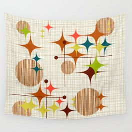 Starbursts and Globes 4 Wall Tapestry