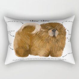 C is for Chow Chow Rectangular Pillow
