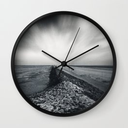 empty sea Wall Clock
