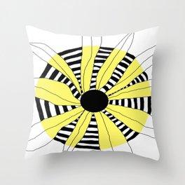 FLOWERY INA / ORIGINAL DANISH DESIGN bykazandholly Throw Pillow