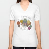 drums V-neck T-shirts featuring drums by WilliamBee