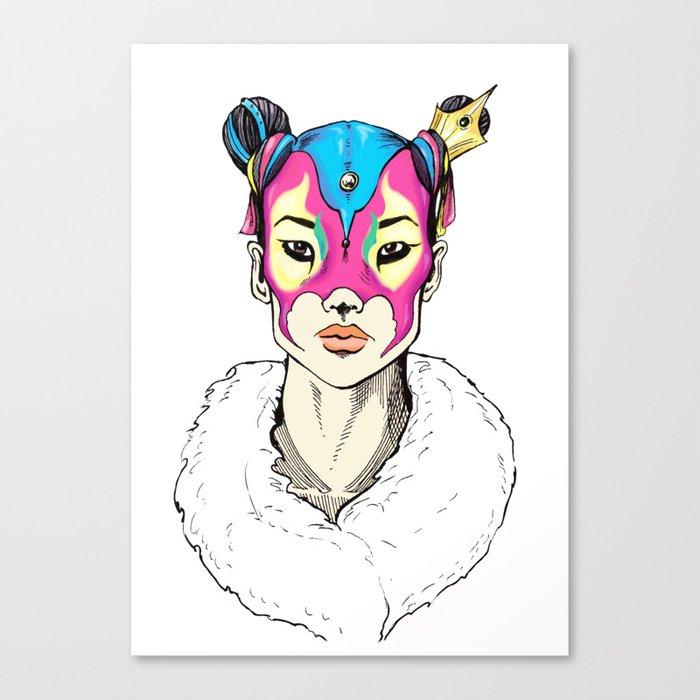 Asian Superheroine Canvas Print