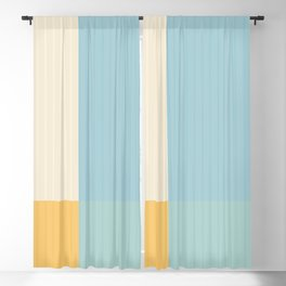 Color Block Line Abstract III Blackout Curtain