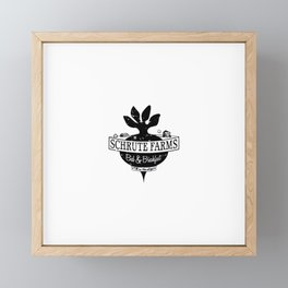 The farm Framed Mini Art Print