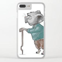 Grandpa Mouse Clear iPhone Case