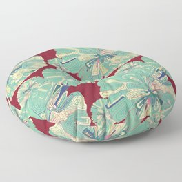 Colorful gift - Doodle Flower Floor Pillow