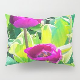Two Tulips Rising Pillow Sham