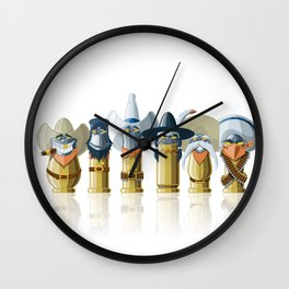 The Toon Bullets (aged version) Wall Clock