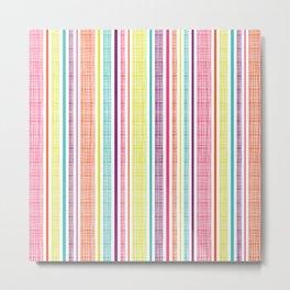 Textured Stripes Metal Print