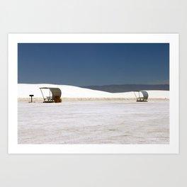 Picknick At White Sands Art Print
