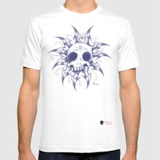 Salomonic skull  MEDIUM Mens Fitted Tee White