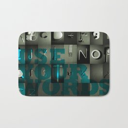 Use Your Words Bath Mat