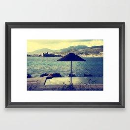 Bodrum Scenery Framed Art Print