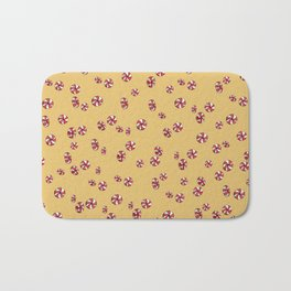 Peppermint Candy in Yellow Bath Mat