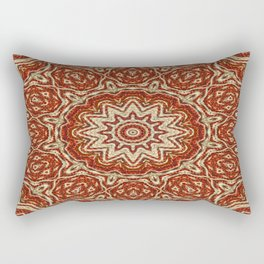 Brown - White - Beige Cotton Pattern (2) Rectangular Pillow