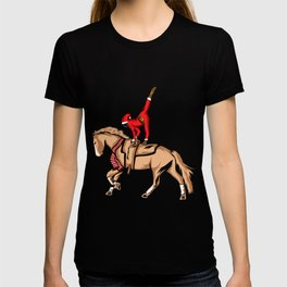 vaulting gymnastics riding horse T-shirt