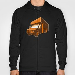 moving truck delivery van retro Hoody