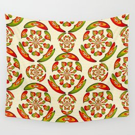 Portuguese flag pattern Wall Tapestry