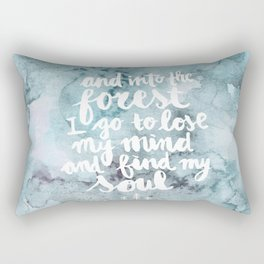 Into the Forest I go Rectangular Pillow