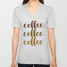 COFFEE COFFEE COFFEE Unisex V-Neck