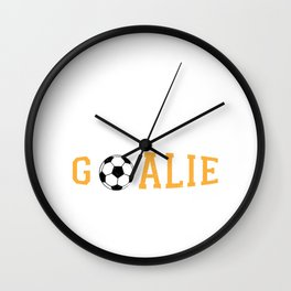 Goalkeeper Goalie Empty Net Soccer Ball Funny Gift Wall Clock