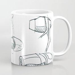Earbud Pattern Coffee Mug