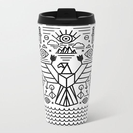 Secret Eagle Metal Travel Mug