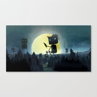 giants Canvas Prints featuring Hill Giants by GlennPorterArt