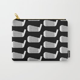 Golf Club Head Vintage Pattern (Black/White) Carry-All Pouch