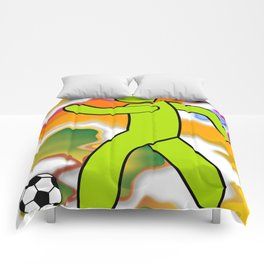 Soccer Player Icon Comforters